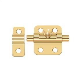 "2"" Barrel Bolt - PVD Polished Brass"