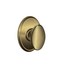 Siena Knob with Wakefield trim Hall & Closet Lock - Antique Brass
