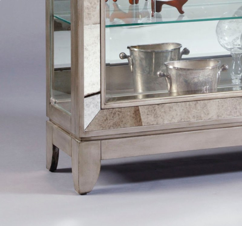 Platinum Antique Mirrored Curio - 21384 In By Pulaski Furniture In Indianapolis, IN - Platinum Antique