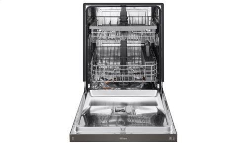 LG Black Stainless Steel Series Front Control Dishwasher with QuadWash® and EasyRack Plus