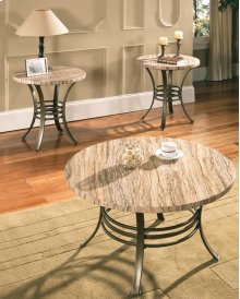 "Ellen Faux Marble 3-Pack Table Top, C-36""Round, E-24"" Round"