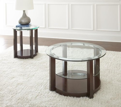 "Cerchio Cocktail Table, 35""x35""x20"""