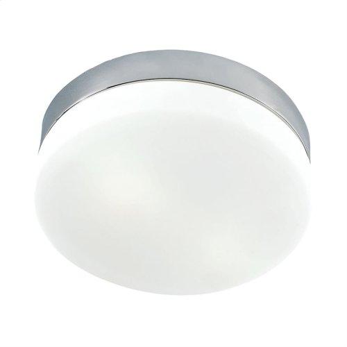 Disc LED Mini Flushmount Opal glassSatin Nickel finish