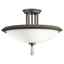 Dreyfus Collection Dreyfus 3 Light Semi Flush OZ