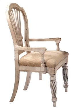 Wilshire Dining Arm Chair Antique White Product Image