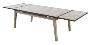 """Emerald Home Synchrony Extension Dining Table W/20"""" Ext Each End Pearl D112-10"""