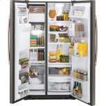 Ge(r) 21.9 Cu. Ft. Counter-Depth Side-By-Side Refrigerator