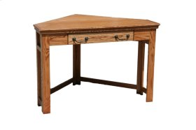 A-T374 Traditional Alder Corner Laptop Desk