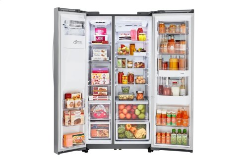 22 cu.ft. InstaView Door-in-Door® Side-By-Side Counter-Depth Refrigerator