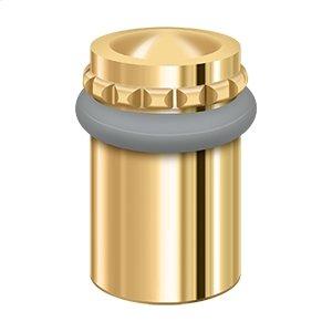 "Round Universal Floor Bumper Pattern Cap 2"", Solid Brass - PVD Polished Brass"
