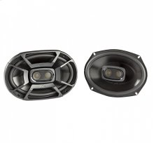 """DB+ Series 6""""x9"""" Three-Way Coaxial Speakers with Marine Certification in Black"""