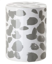 Tilda Spotted Garden Stool - Grey