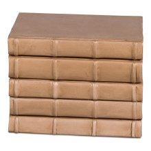 Books, Set Of 6, Antique Vellum