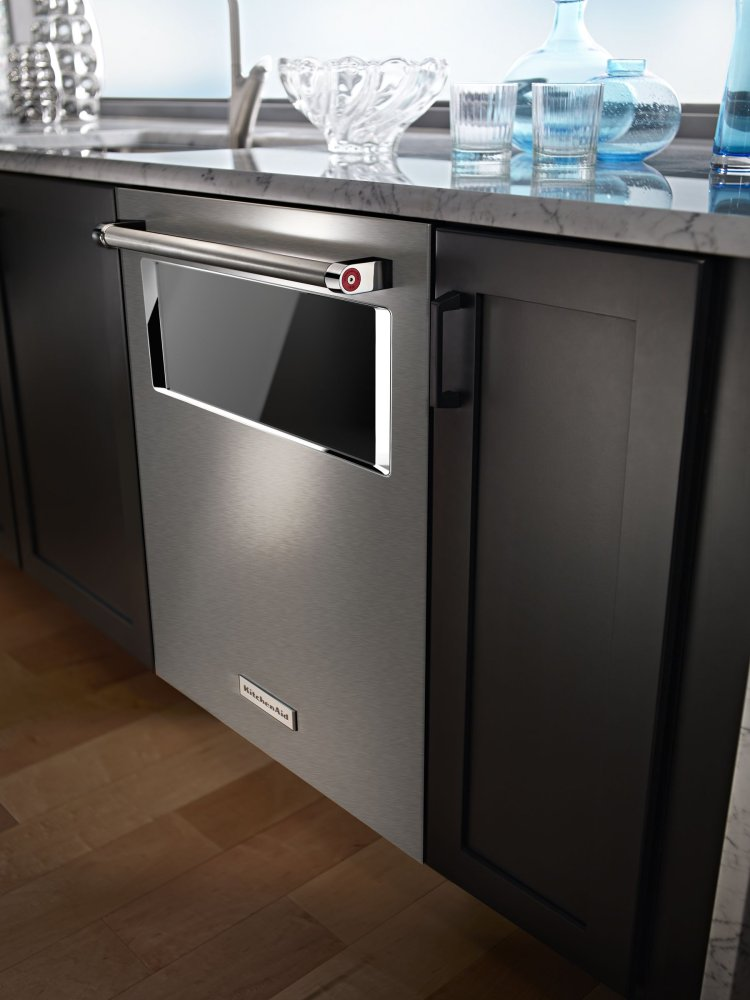 44 DBA Dishwasher With Window And Lighted Interior   Stainless Steel