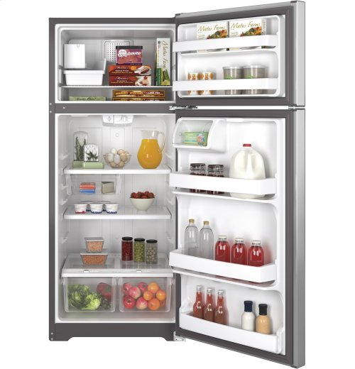 FACTORY BLEM UNIT- GE® ENERGY STAR® 17.5 Cu. Ft. Top-Freezer Refrigerator