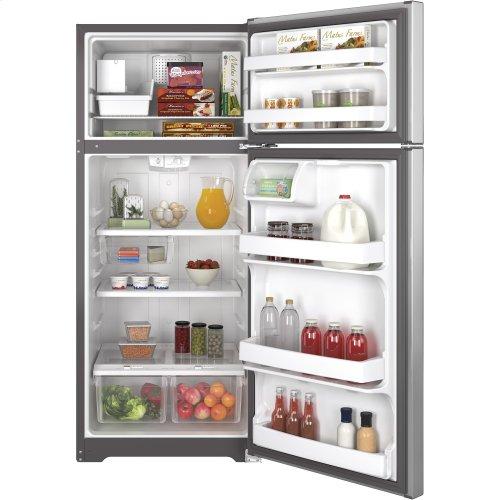 FACTORY BLEM UNIT- GE® ENERGY STAR® 17.5 Cu. Ft. Top-Freezer Refrigerator