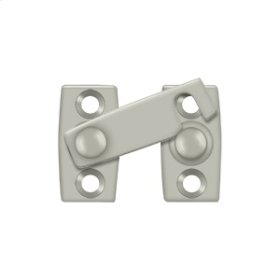 "Shutter Bar/Door Latch 1 1/8"" - Brushed Nickel"