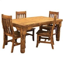 """Table : 72"""" x 40"""" x 31"""" Rough Pine Table and Chairs"""