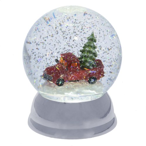 Lighted LED Shimmer Truck with Tree Globe.