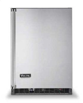 "Metallic Silver 24"" Solid Door Beverage Center - VUAR (Solid door (left hinge))"