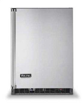 """Metallic Silver 24"""" Solid Door Beverage Center - VUAR (Solid door (left hinge))"""