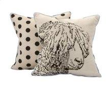 Sampson Sheep Embroidered Pillow