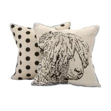 Sampson Sheep Embroidered Pillow