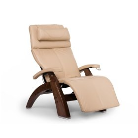 Perfect Chair PC-420 Classic Manual Plus - Ivory Premium Leather - Walnut