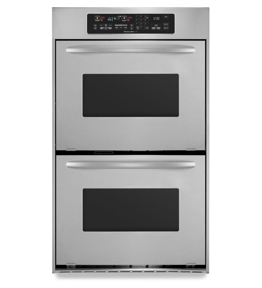 Kebc247vss Kitchenaid 24 Inch Convection Double Wall Oven Architect Series Ii Handles Stainless Steel Stainless Steel Good Deals Appliances