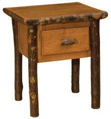 One Drawer Nightstand Rustic Alder