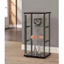 Contemporary Black and Glass Curio Cabinet