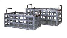 TY Honeybee Galvanized Crates - Set of 2