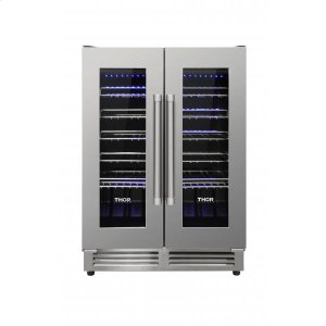 Thor42 Bottle Dual Zone French Door Built-in Wine Cooler