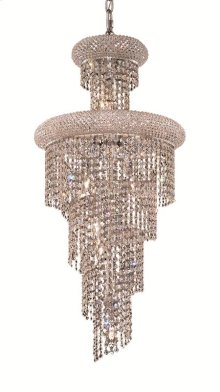1800 Spiral Collection Hanging Fixture Chrome Finish