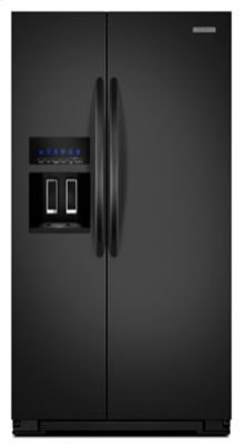 22.7 Cu. Ft. Counter-Depth Side-by-Side Refrigerator - Black