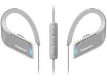 WINGS Headphones, Ultra-Light, Sports, Clip Around Ear, Bluetooth Wireless - RP-BTS55-H - Grey