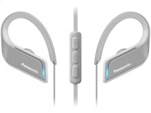 WINGS Headphones, Ultra-Light, Sports, Clip Around Ear, Bluetooth Wireless - RP-BTS55-H - Grey