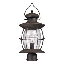 Village Lantern 1-Light Outdoor Post Lantern in Weathered Charcoal