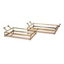 Rahim Mirror Decorative Trays - Set of 2