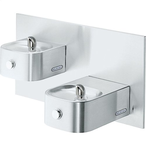 Elkay Soft Sides Bi-Level Fountain Non-Filtered Non-Refrigerated, Freeze Resistant Stainless
