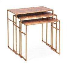 Authentic Copper Tables - Set of 3