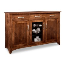Glengarry Sideboard w/2 Wood Doors & 1/Center Glass Door & 3/Drws & 2/Wood & Glass Adjust.