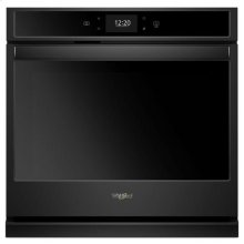 Whirlpool® 5.0 cu. ft. Smart Single Wall Oven with True Convection Cooking - Black