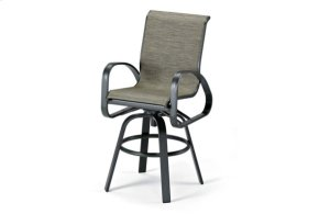 Bar Height Swivel Arm Chair