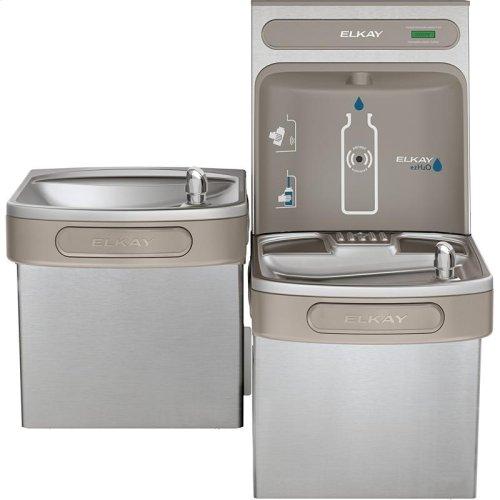 Elkay EZH2O Bottle Filling Station & Versatile Bi-Level ADA Cooler, Non-Filtered Non-Refrigerated Stainless