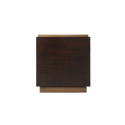 Mesa Nightstand L (small) - High Gloss Walnut