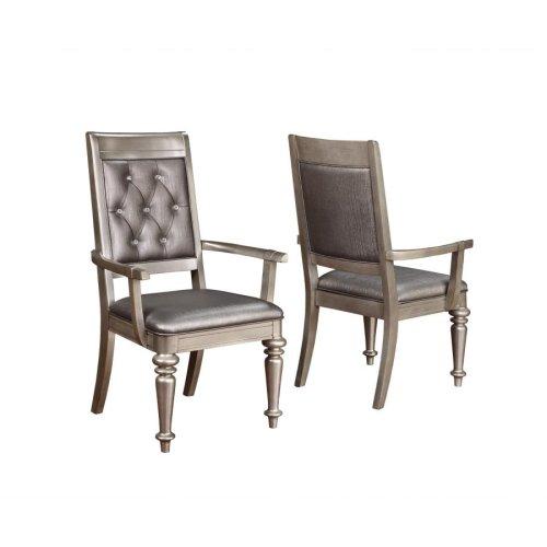 Bling Game Hollywood Glam Metallic Platinum Armchair