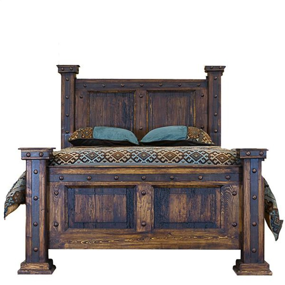 King Bed W/Reclaimed Wood Panels