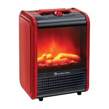 CZFP1 Ceramic Electric Fireplace Stove Fan-Forced Heater, Red