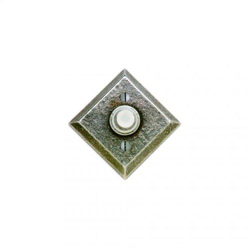 Diamond Doorbell Button Silicon Bronze Dark